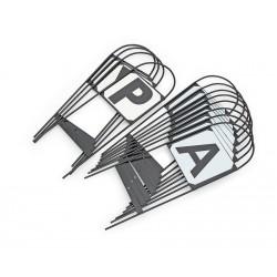 Shires Steel Hoop Dressage Markers 4-rsvp Black