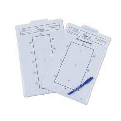 Shires Learner Dressage Test Board White