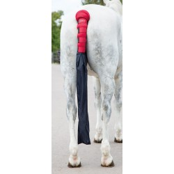 Shires Arma Padded Tail Guard With Bag Red