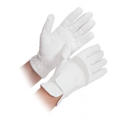 Shires Bicton Lightweight Competition Gloves Childs White