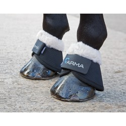 Shires Arma Fleece Trimmed Over Reach Boots Black