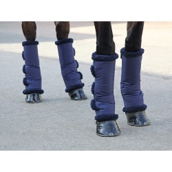 Shires Short Fleece Lined Travel Boots Navy