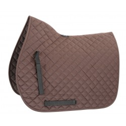 Shires Quilted Saddlecloth Seal brown