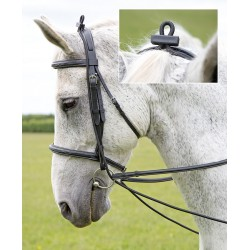 Shires Elastic Training Reins Black