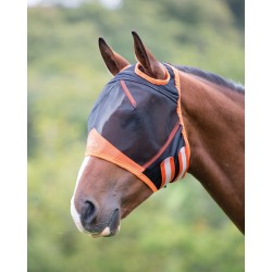 Shires Fine Mesh Fly Mask With Ear Hole Black