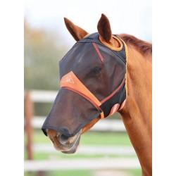 Masque anti mouches avec protection nez Shires sans oreilles Noir