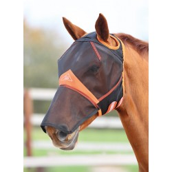 Shires Fine Mesh Fly Mask With Ear Hole & Nose Black