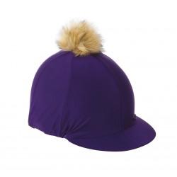 Toque casque avec pompon Shires Violet