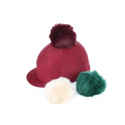 Shires Switch It Pom Pom Hat Cover Burgundy
