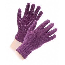 Shires Suregrip Gloves Childrens Purple