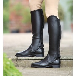 Shires Synthetic Leather Gaiters Adults Black