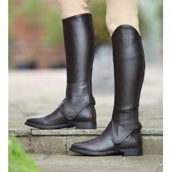 Shires Synthetic Leather Gaiters Childs Black