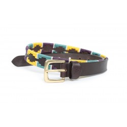 Ceinture Shires Drover Skinny Polo Marine / orange