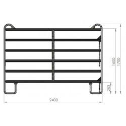 Panel galvanizado Kerbl