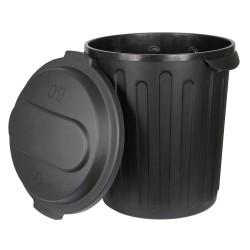 Conteneur à fourrage 60 litres noir Kerbl