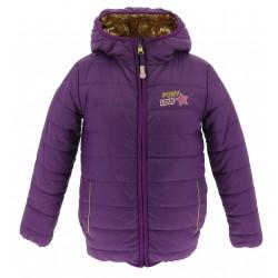 Equi-Kids Ponylove Reversible padded jacket with hood-Girls Purple / golden