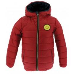 Equi-Kids Ponyrider Reversible padded jacket with hood-boys Navy blue / rojo