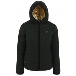 Equi-Theme Reversible Padded Jacket with Hood Ladies Black