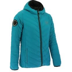TRC 85 Reversible padded jacket with hood Black