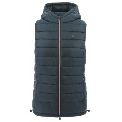 Equi-Theme padded vest with hood Ladies Navy