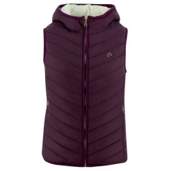 Equi-Theme Reversible Padded Jacket with Hood Ladies Plum