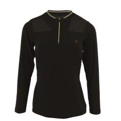 Equi-Theme Long-sleeved Zipped T-shirt Ladies Black