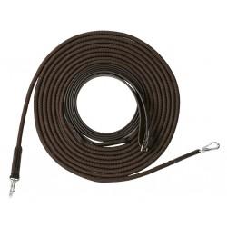 Longues rênes Riding World cuir / corde