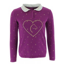 Equi-Kids PonylovePolo short with strass-girls Purple
