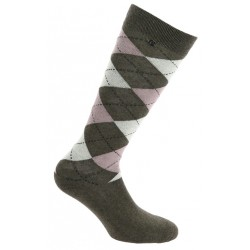 Equi-Theme Argyle women's socks Black / royal blue