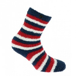 Equi-Theme Chenille socks Navy / red / white