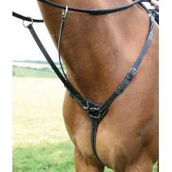 Shires Salisbury Three Point Breastplate Black