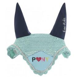 Bonnet chasse-mouches Equi-Kids Crinière Bleu ciel