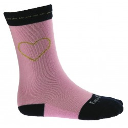 Chaussettes Equi-Kids Coeur Rose / marine