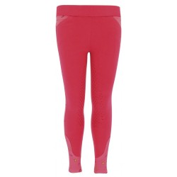 Pantalon Equi-Kids Beauty fond silicone Rose / framboise