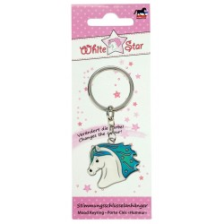 Mood Keyring White Star Multicolor