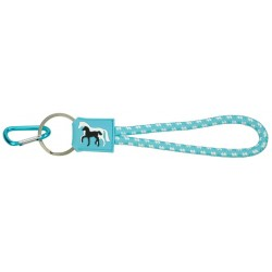 Porte-clés Jument et Poulain Bleu