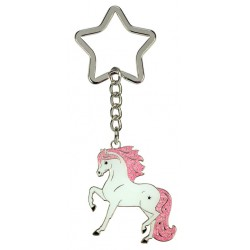 Keyring White Star / Black Star