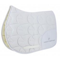 Equi-Theme Logo Saddle Pad White