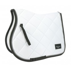 Equi-Theme Platinium Black Saddle Cloth White / silver