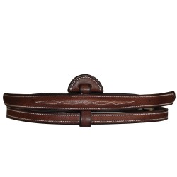 Fancy Raised & Padded center part for Adjustable noseband Flags & Cup
