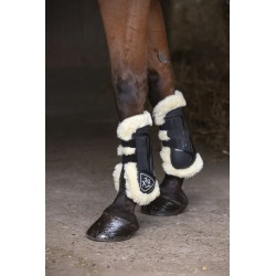 Norton XTR Fetlock and Tendon Boots in synthetic sheepskin