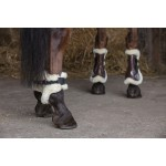 Norton XTR Fetlock and Tendon Boots in synthetic sheepskin Brown
