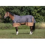 Couverture Equi-Theme TYREX 600D Aisance High Neck Gris / marron