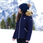 Flags & Cup Valtola Ladies down jacket Navy blue