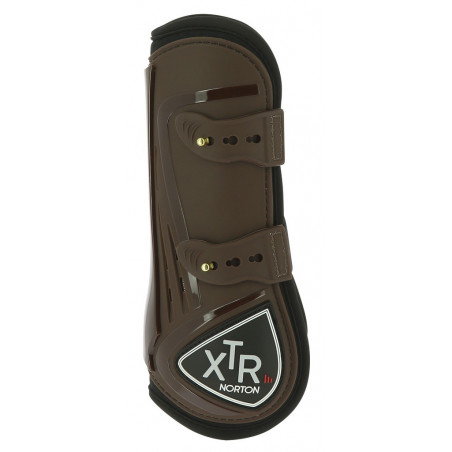 Norton XTR tendon boots with buttons Brown