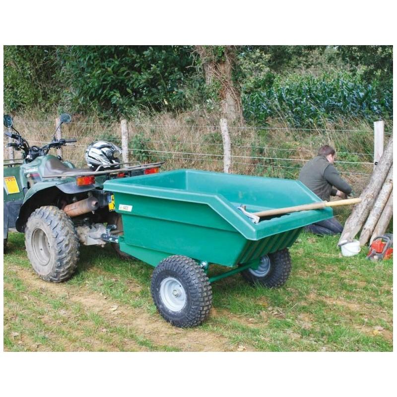 remorque quad la g e 450 litres pour quad agricole. Black Bedroom Furniture Sets. Home Design Ideas