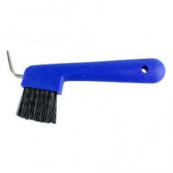 HOOF PICK WITH BRUSH Blue