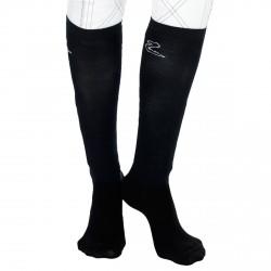 Calcetines de competición Horze por 2 pares Negro