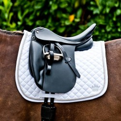 SILVER CORD DRESSAGE SADDLE PAD White