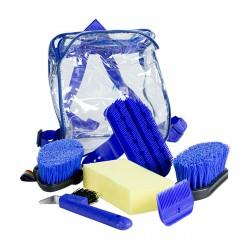 Set de limpieza Horze Azul